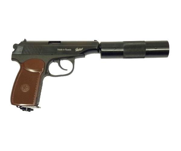 МР-654 К-22 пистолет пневматический фальшглушитель - купить (заказать), узнать цену - Охотничий супермаркет Стрелец г. Екатеринбург