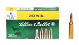 Патрон к.243 Win 6,5гр SP Sellier&Bellot 1уп/20шт - купить (заказать), узнать цену - Охотничий супермаркет Стрелец г. Екатеринбург