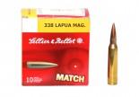 Патрон к.338 Lapua Magnum 19,4гр HPBT S&B 1шт - купить (заказать), узнать цену - Охотничий супермаркет Стрелец г. Екатеринбург