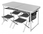 Стол складной Norfin RUNN NF Alu 120*60+ 4 стула - купить (заказать), узнать цену - Охотничий супермаркет Стрелец г. Екатеринбург