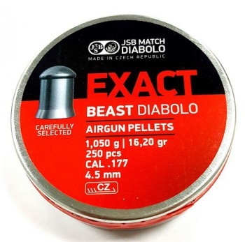 Пульки JSB Exact Beast кал. 4,52 мм 1,05 гр (250 шт./бан.) - купить (заказать), узнать цену - Охотничий супермаркет Стрелец г. Екатеринбург