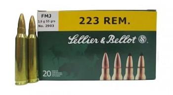 Патрон к.223Rem 3,6гр FMJ Bulk Packing Box S&B 1уп/100шт - купить (заказать), узнать цену - Охотничий супермаркет Стрелец г. Екатеринбург