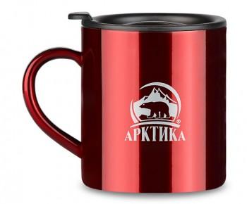 """Термокружка """"Арктика"""" невакуумная цветная 802-300 красная, 0.3 л - купить (заказать), узнать цену - Охотничий супермаркет Стрелец г. Екатеринбург"""