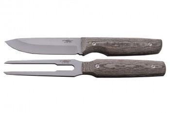Набор N.C-Custom Set Hunting (Нож S-H01, Вилка S-H02) Микарта - купить (заказать), узнать цену - Охотничий супермаркет Стрелец г. Екатеринбург