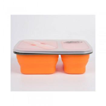 Контейнер Tramp силиконовый 2 отсека с ложевилкой (оранжевый , 900мл) - купить (заказать), узнать цену - Охотничий супермаркет Стрелец г. Екатеринбург