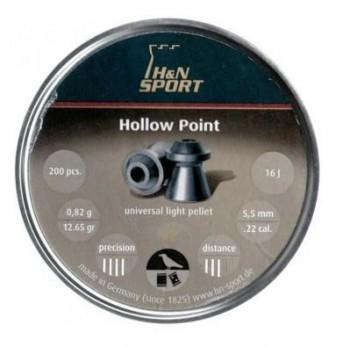 Пули пневматические H&N Hollow Point кал. 5,5мм, 0,82г (200 в банке) - купить (заказать), узнать цену - Охотничий супермаркет Стрелец г. Екатеринбург