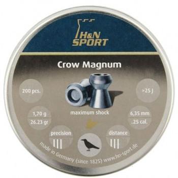 Пули пневматические H&N Crow Magnum кал. 6,35мм, 1,70г (200 в банке) - купить (заказать), узнать цену - Охотничий супермаркет Стрелец г. Екатеринбург