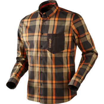 Рубашка Harkila Amlet L/S Shadow brown check - купить (заказать), узнать цену - Охотничий супермаркет Стрелец г. Екатеринбург