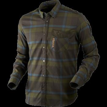 Рубашка Harkila Angot L/S India ink blue/Shadow brown - купить (заказать), узнать цену - Охотничий супермаркет Стрелец г. Екатеринбург