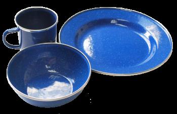 Набор посуды Tramp эмалированой TRC-074 (Сталь) - купить (заказать), узнать цену - Охотничий супермаркет Стрелец г. Екатеринбург