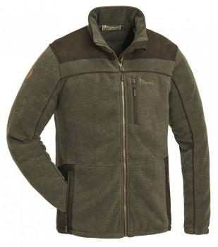 Куртка флисовая Pinewood Prestwick Exklusive (цвет олива/темно-коричневый) - купить (заказать), узнать цену - Охотничий супермаркет Стрелец г. Екатеринбург