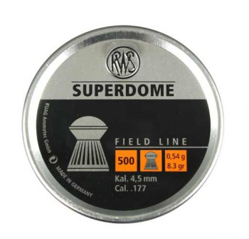 Пульки RWS Superdome 4,5 мм 0,54 г (500 шт./бан.) - купить (заказать), узнать цену - Охотничий супермаркет Стрелец г. Екатеринбург