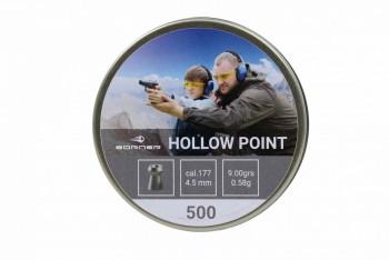 """Пуля пневм. Borner """"Hollow Point"""", для винт.,  4,5 (500 шт.) 0,58гр. - купить (заказать), узнать цену - Охотничий супермаркет Стрелец г. Екатеринбург"""