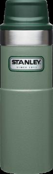 Термокружка STANLEY Classic 0.47L One hand 2.0  Зеленая  - купить (заказать), узнать цену - Охотничий супермаркет Стрелец г. Екатеринбург