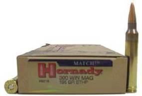 Патрон к.300WinMag New BTHP Mafch 12,64гр Hornady 1шт - купить (заказать), узнать цену - Охотничий супермаркет Стрелец г. Екатеринбург