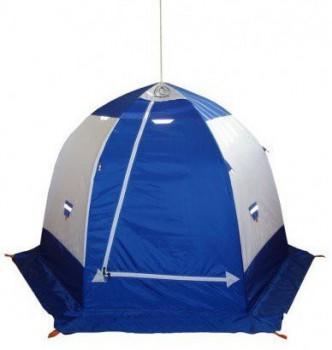 Зимняя палатка Пингвин 3 с дышащим верхом (1-сл.) цвет: бело-синий - купить (заказать), узнать цену - Охотничий супермаркет Стрелец г. Екатеринбург