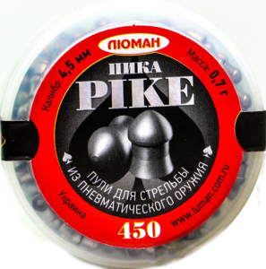 """Пуля пневм. """"Pike (пика)"""", 0,7 г. 4,5 мм. (450 шт.) - купить (заказать), узнать цену - Охотничий супермаркет Стрелец г. Екатеринбург"""