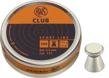 Пуля RWS Club 4,5мм 0.45гр (500 шт./бан.)  - купить (заказать), узнать цену - Охотничий супермаркет Стрелец г. Екатеринбург