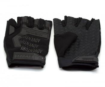 Перчатки тактические Adventure укороченные прорезиненные черные - купить (заказать), узнать цену - Охотничий супермаркет Стрелец г. Екатеринбург
