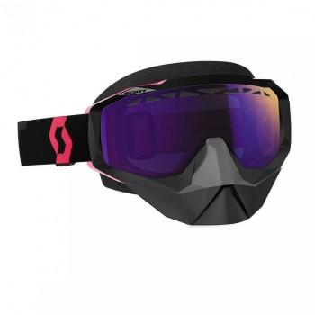 Очки Scott Hustle Snowcross Black/Fluo pink линза Blue Chrome - купить (заказать), узнать цену - Охотничий супермаркет Стрелец г. Екатеринбург