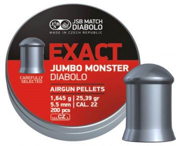 Пульки JSB Exact Jumbo Monster кал. 5.52 мм  1,645 г (200 шт./бан.) - купить (заказать), узнать цену - Охотничий супермаркет Стрелец г. Екатеринбург