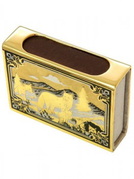 Спички сувенирные позолоченые в коробке - купить (заказать), узнать цену - Охотничий супермаркет Стрелец г. Екатеринбург