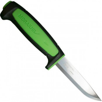 Нож Morakniv Basic 511 углеродистая сталь, пласт. ручка (черная) зел. вставка - купить (заказать), узнать цену - Охотничий супермаркет Стрелец г. Екатеринбург