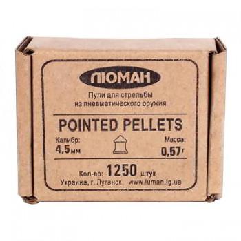 """Пуля пневм. """"Pointed pellets"""", 0,57 г. 4,5 мм. (1250 шт.) - купить (заказать), узнать цену - Охотничий супермаркет Стрелец г. Екатеринбург"""