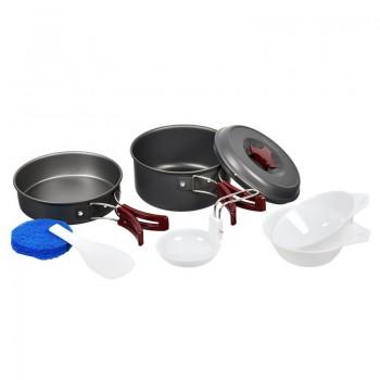 Набор посуды туристически анодированный алюминий Boyscout на 1-2 персоны - купить (заказать), узнать цену - Охотничий супермаркет Стрелец г. Екатеринбург