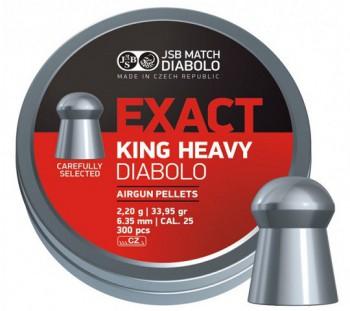Пульки JSB Exact King Heavy кал. 6,35 мм 2,2 гр (300 шт./бан.) - купить (заказать), узнать цену - Охотничий супермаркет Стрелец г. Екатеринбург