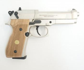 Пистолет пневм. Beretta M92 FS (никель с дерев. накладками) - купить (заказать), узнать цену - Охотничий супермаркет Стрелец г. Екатеринбург