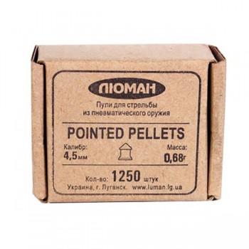 """Пуля пневм. """"Pointed pellets"""", 0,68 г. 4,5 мм. (1250 шт.) - купить (заказать), узнать цену - Охотничий супермаркет Стрелец г. Екатеринбург"""