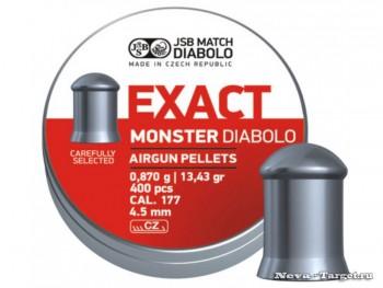 Пуля JSB Exact monster diablo к.4,5 1уп/400 шт - купить (заказать), узнать цену - Охотничий супермаркет Стрелец г. Екатеринбург