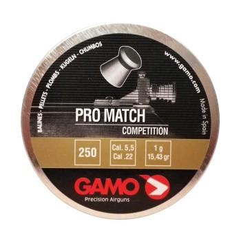 Пуля Gamo Pro-Match, кал. 5,5 мм. (250 шт.) - купить (заказать), узнать цену - Охотничий супермаркет Стрелец г. Екатеринбург
