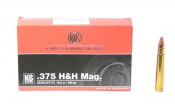 Патрон к.375 H&H Mag 19,4гр New KS Cone Point RWS 1шт - купить (заказать), узнать цену - Охотничий супермаркет Стрелец г. Екатеринбург