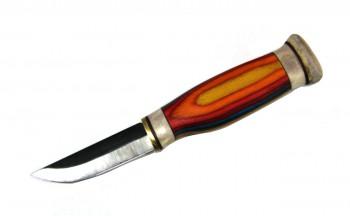 Нож малый Puukko Wood Jewel (рукоятка из многослойного цветного зебрано) 23 RT - купить (заказать), узнать цену - Охотничий супермаркет Стрелец г. Екатеринбург