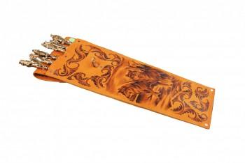 Набор шашлычный Нш-6 ХР (шампуры звери, цельнометаллические ручки) - купить (заказать), узнать цену - Охотничий супермаркет Стрелец г. Екатеринбург
