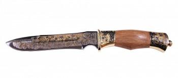 Нож сувенирный Кардинал ножны из кожи (позолота) ЭИ-107 - купить (заказать), узнать цену - Охотничий супермаркет Стрелец г. Екатеринбург