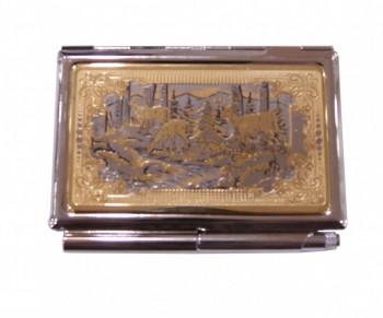 Визитница с гравюрой позолота (в коробке) - купить (заказать), узнать цену - Охотничий супермаркет Стрелец г. Екатеринбург