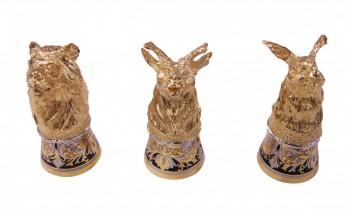 Набор Литых стопок (животные) 3 шт. - купить (заказать), узнать цену - Охотничий супермаркет Стрелец г. Екатеринбург