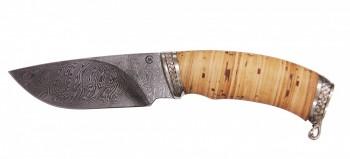 Нож Разделочный, дамасская сталь, литье, береста - купить (заказать), узнать цену - Охотничий супермаркет Стрелец г. Екатеринбург