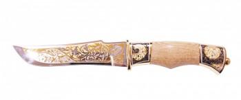 Нож сувенирный Клык ножны из кожи (позолота) ЭИ-107 - купить (заказать), узнать цену - Охотничий супермаркет Стрелец г. Екатеринбург