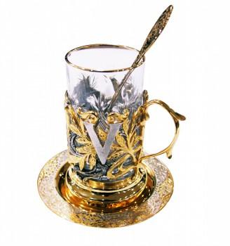Набор чайный литьё Виктория ложка ,тарелка,хрусталь. - купить (заказать), узнать цену - Охотничий супермаркет Стрелец г. Екатеринбург
