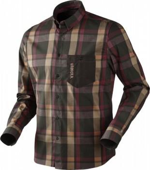 Рубашка Harkila Amlet Burgundy/Brown Check - купить (заказать), узнать цену - Охотничий супермаркет Стрелец г. Екатеринбург