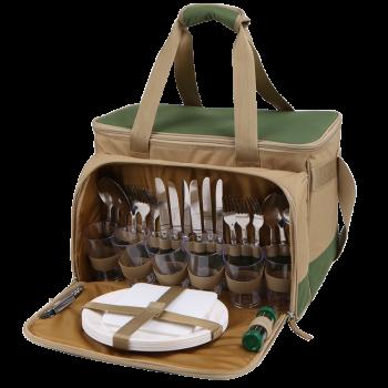 Набор для пикника Арктика 4100-6 зеленый с рисунком, 22 л - купить (заказать), узнать цену - Охотничий супермаркет Стрелец г. Екатеринбург