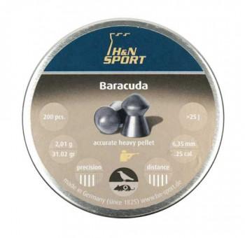 Пуля пневматическая H&N Baracuda калибр 6,35 (200 шт) - купить (заказать), узнать цену - Охотничий супермаркет Стрелец г. Екатеринбург
