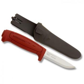 Нож Morakniv Basic углеродистая сталь пластиковая ручка красная - купить (заказать), узнать цену - Охотничий супермаркет Стрелец г. Екатеринбург
