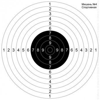 Мишень для пристрелки ружей №4 спортивная - купить (заказать), узнать цену - Охотничий супермаркет Стрелец г. Екатеринбург