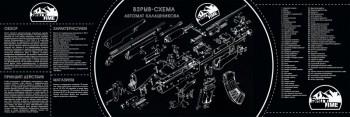 Коврик ShotTime для чистки оружия АК-47 черный/белый 90х30см - купить (заказать), узнать цену - Охотничий супермаркет Стрелец г. Екатеринбург