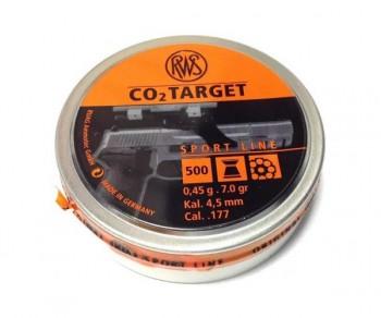 Пуля пневматическая RWS CO2 Target 4.5 мм, 0.45г (500шт) - купить (заказать), узнать цену - Охотничий супермаркет Стрелец г. Екатеринбург